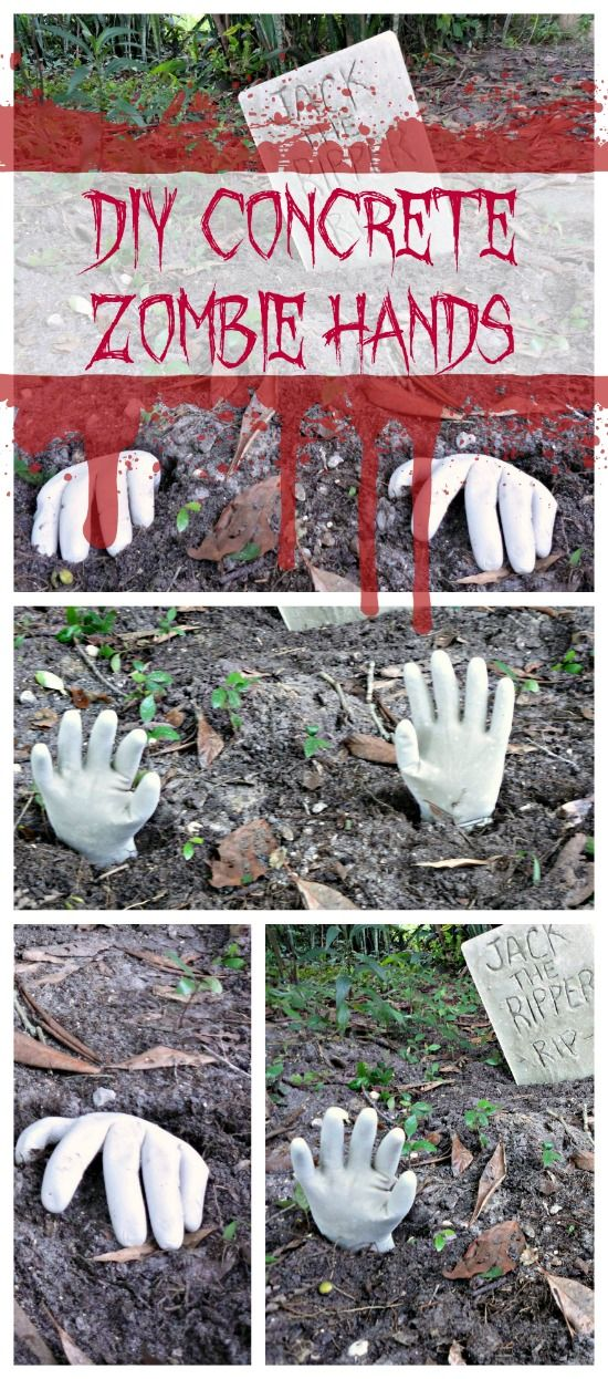 7721 best halloween craftsprops diy images on pinterest halloween halloween craft how to make concrete zombie hands diy halloween decorations solutioingenieria Images
