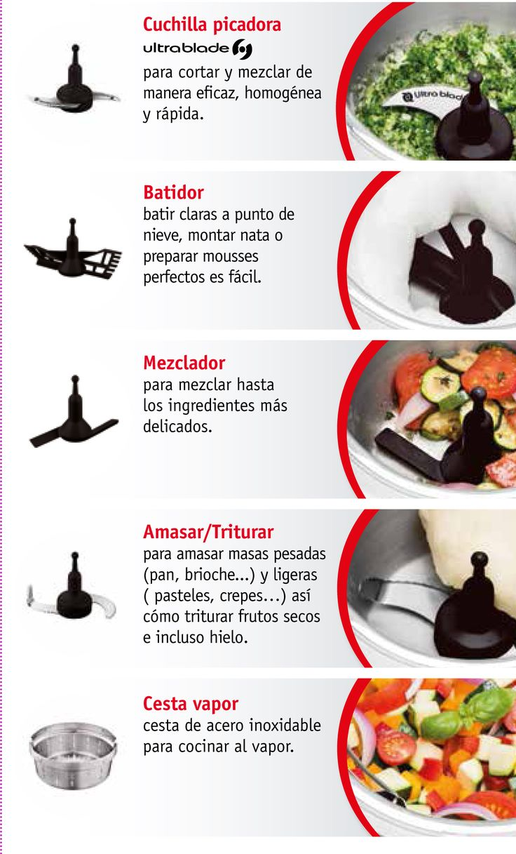 Cuisine Companion viene con 5 accesorios para preparar hasta un millón de menús. Mira hasta dónde puedes llegar con el robot de cocina de Moulinex. http://www.cuisinecompanion.moulinex.es/