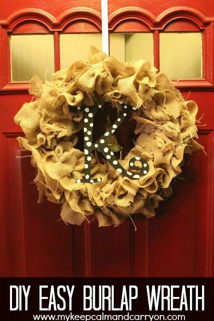 DIY:: tips for working with burlap & the easiest burlap wreath!! {tutorial}