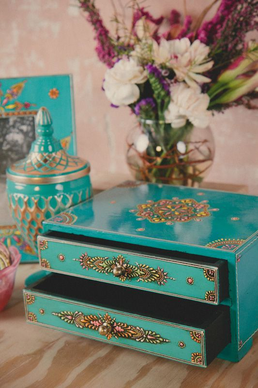 Boxes For Decoration And Crafts 64 Best Painted Vintage Jewelry Boxes Images On Pinterest