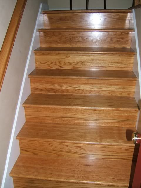 Golden Pecan Stain On Stairs Floors And Painting