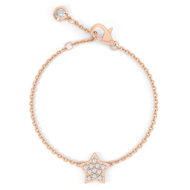 Charmisma Diamond Star 18ct Rose Gold Bracelet