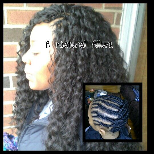 Crochet braids using 4 packs of Freetress Deep Twist hair. www ...