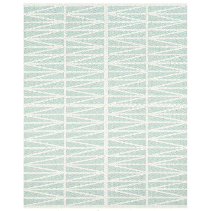 Helmi Rug, Light Turquoise - Brita Sweden - Brita Sweden - RoyalDesign.com #rugs #design #britasweden #bsweden #interior #interiordesign #blue #summer #royaldesign