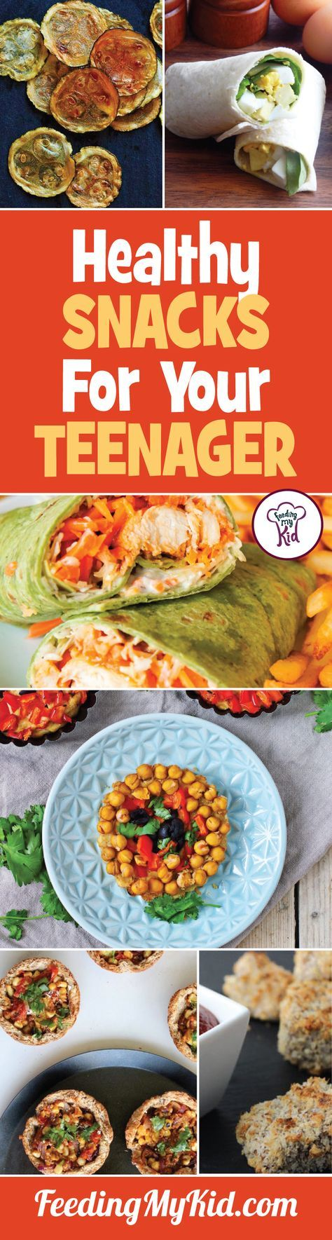 This is a must pin! We put together this list of healthy snacks for teens that your kids will love to eat. These recipes are sure to please your teens!  Feeding My Kid is filled with all the information you need about how to raise your kids, from healthy