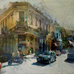«Στην Ερμού» (ακρυλικό σε καμβά, 2013), Giannis Adamakis, tovima.gr - Doldrums, με το πινέλο του Γιάννη Αδαμάκη