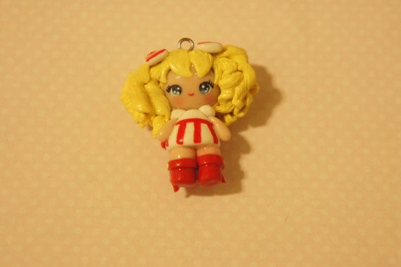Candy Candy Chibi Polymer Clay Charm via Etsy