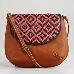 leather bag - lawson coral by mozi