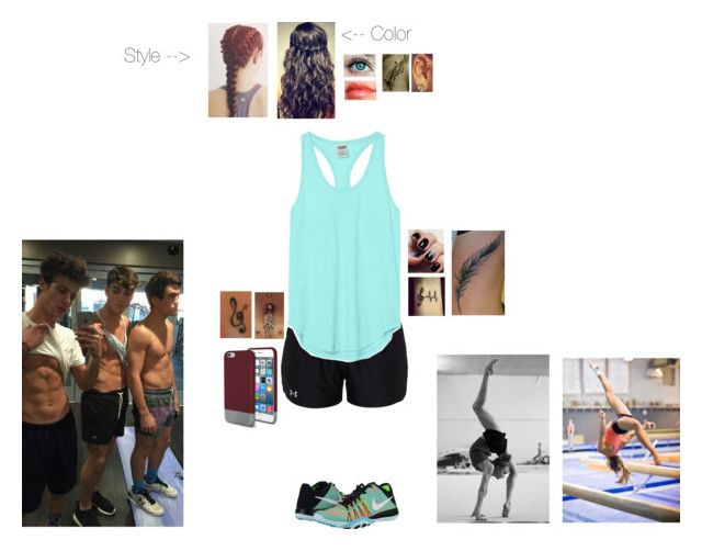 """""""Workout with Bae and the Twins."""" by tyviereck ❤ liked on Polyvore featuring Victoria's Secret PINK, Under Armour, Victoria's Secret, STELLA McCARTNEY, NIKE, Original Penguin and Bellybutton"""