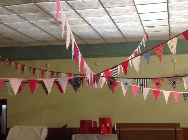 Bunting for a vintage themed wedding shower .by sew pretty.uk