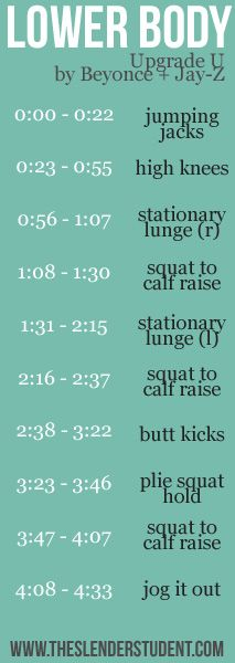 A fun lower body workout set to music! | The Slender Student
