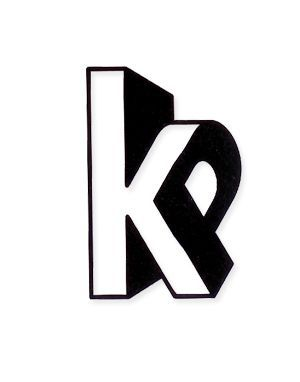 as the P fits into the x-height of the lower case K, a dimention is suggested, further supported by the shadows of depth: