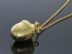 """.925 Sterling silver acorn gold plated necklace 18"""""""