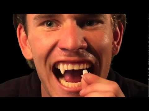 Halloween Tutorial: How to custom fit Vampire Fangs by Scarecrow - YouTube