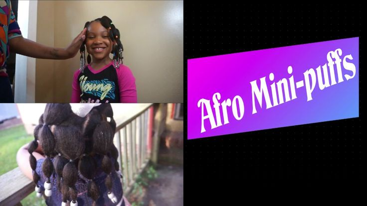 Simple Afro mini puff hairstyle (protective style for natural girls)