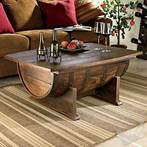Whiskey Barrel coffee table - LOVE IT!