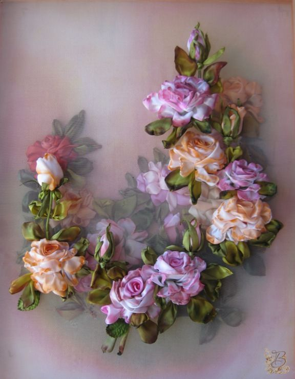 815 Best Ribbon Embroidery Images On Pinterest Ribbons Silk