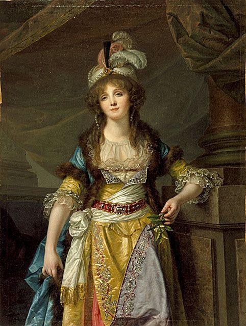 Portrait of a Lady in Turkish Fancy Dress, circa 1790, by Jean-Baptiste Greuze…