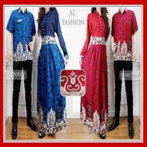 Baju Muslim Batik Couple Model Sarimbit Murah