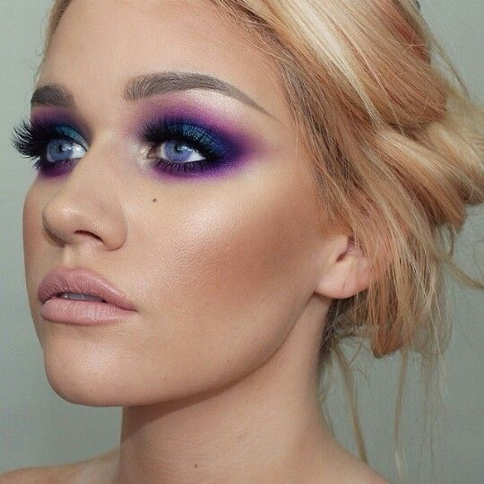 Stunning intense purple smokey eye  search batalash on youtube for the tutorial. #makeup #beauty #purplemakeup.  Samantha of batalashbeauty.com