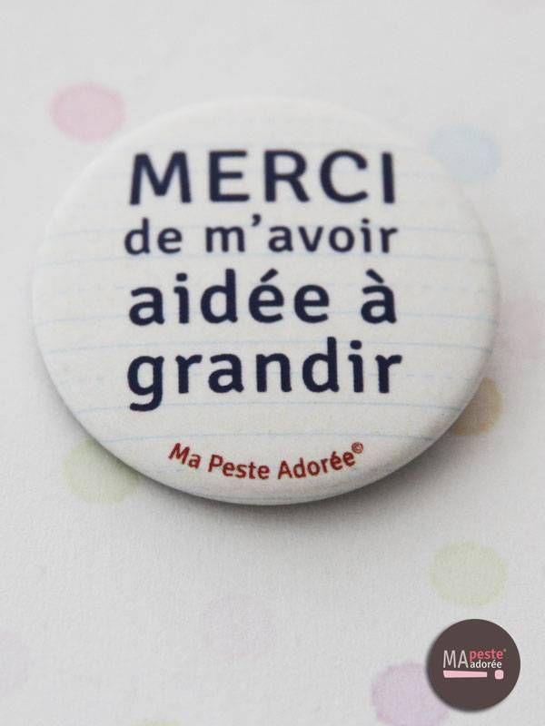 Badge original pour maître ou maîtresse, 2,50€ sur http://www.mapesteadoree.fr/boutique/74-34-mes-crayons-maitresse/1112-badge-merci-cahier.html