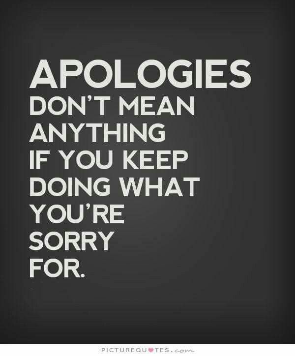 Omg. Are are you sorry if you don't think you did anything wrong? That doesn't make you a people pleaser. Makes you fake.