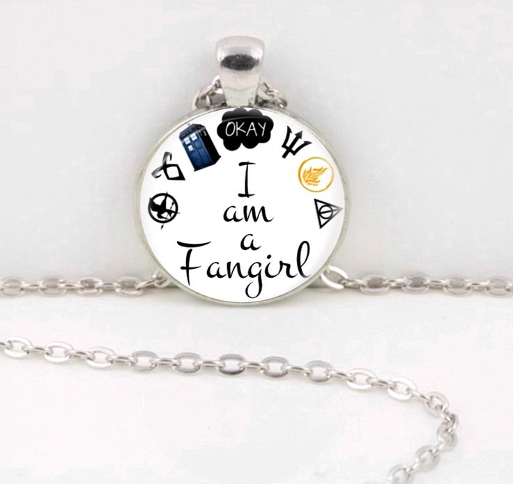 -Listing is for ONE pendant on a 24 inch long ball chain.   -Choose from lots of different fan girl fav's