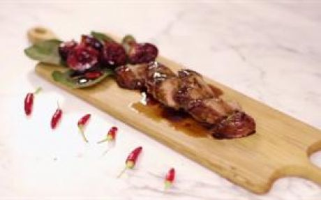 Pork Fillet with Honey-Roasted Black Figs Recipe by Jenny Morris : Food Network UK