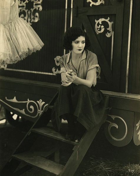 """Actress Merna Kennedy (1908-1944), in Charlie Chaplin's film, """"The Circus,"""" 1928."""