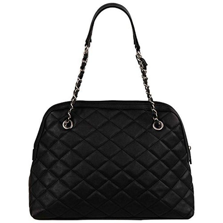 FASH Quilted Chain Strap Hobo Shoulder Handbag
