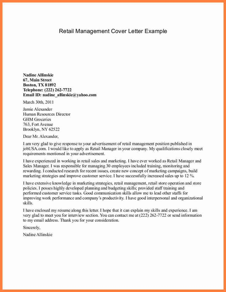 sales cover letter sample retail manager example back article pharmacist resume