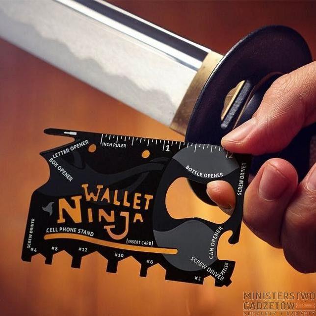 Karta Wallet Ninja 18 w 1. Karta z 18 narzędziami, z nią nic Cię nie zaskoczy!