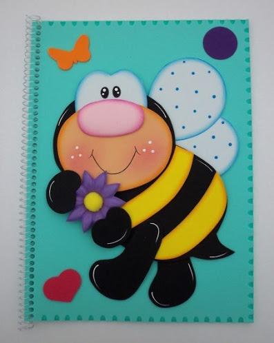 Abejorro. Altered notebook.  Notebook. Cuaderno decorado. Libro alterado. Book.