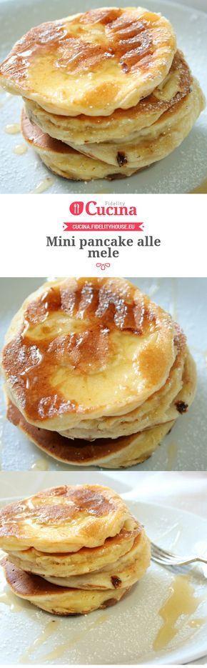 Mini pancake alle mele della nostra utente Sanny. Unisciti alla nostra Community ed invia le tue ricette!