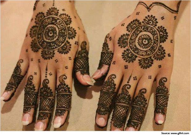 Traditional and Simple Round Mehndi Designs