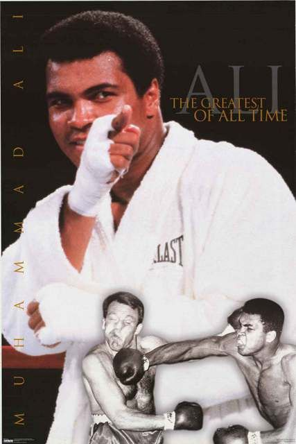 Muhammad Ali is the greatest boxer of all time! An awesome poster of The Champ. Published in 1998. Fully licensed. Ships fast. 23x35 inches. Our selection of Muhammad Ali posters will knock you out! N