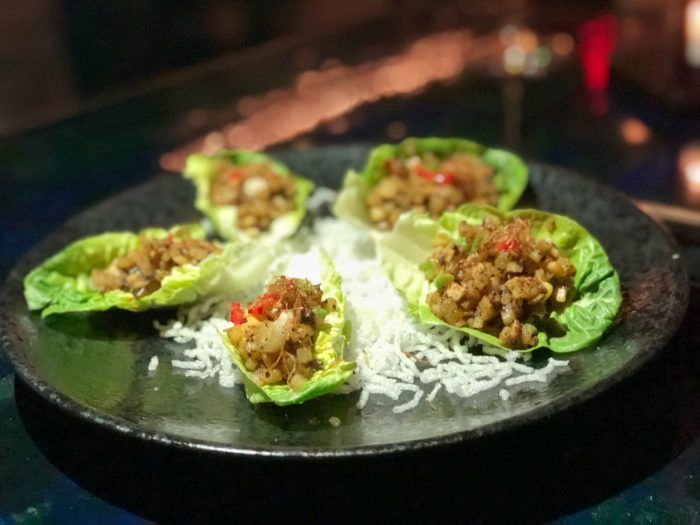 Vegan Options At Mott 32 Makes Your Tastebuds Happy Vegan Las Vegas Vegan Friendly Restaurants Vegan Menu Veggie Spring Rolls