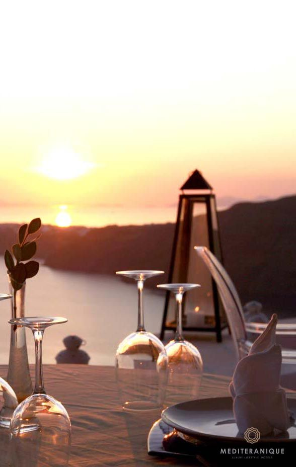 Sunset Dining at the Rocabella Santorini