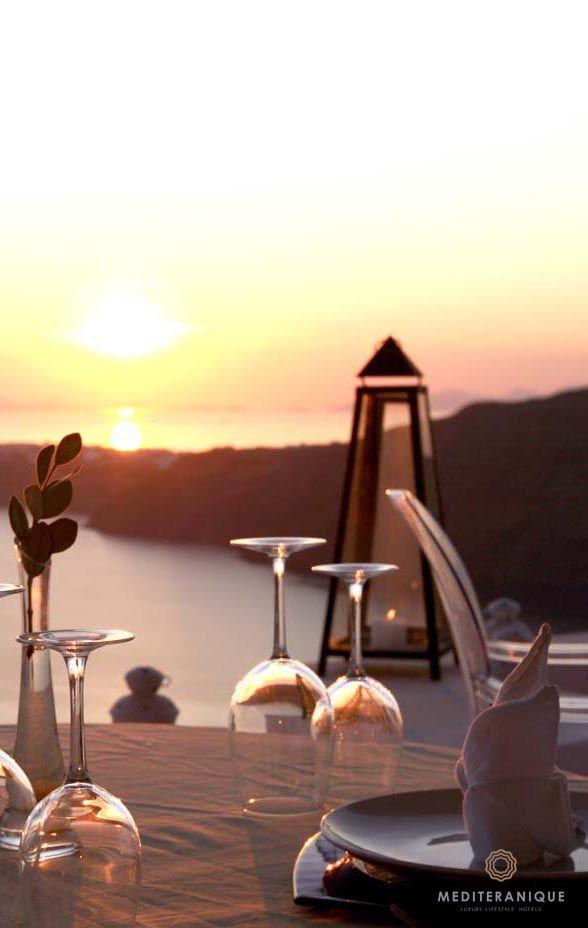 Sunset Dining at the Rocabella Santorini