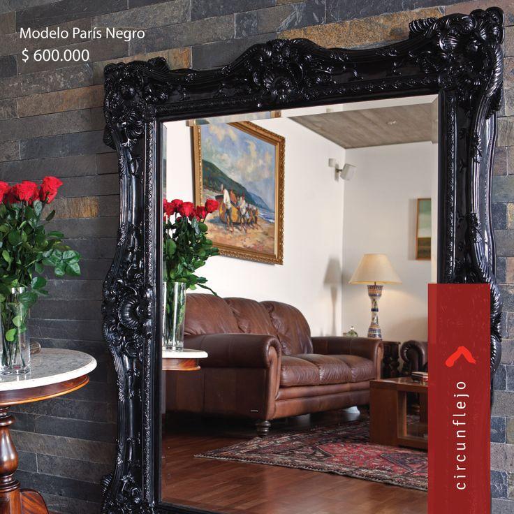 Modelo Paris Negro #espejos #mirror #deco #decoracion