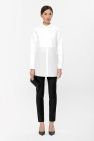COS image 1 of Silk panel shirt dress in White