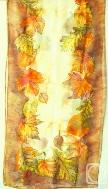 Smaglii Svetlana. шарф ,,осенние листья,,