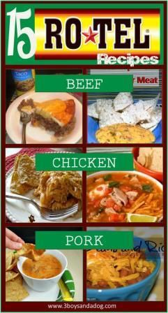 Check out the newest post (15 Spicy Rotel Recipes) on 3 Boys and a Dog at 3boysandadog.com/...