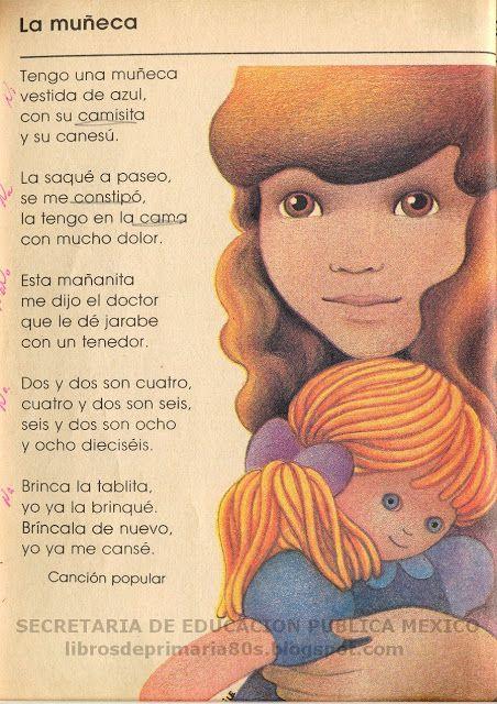 Libros de Primaria de los 80's: muñeca