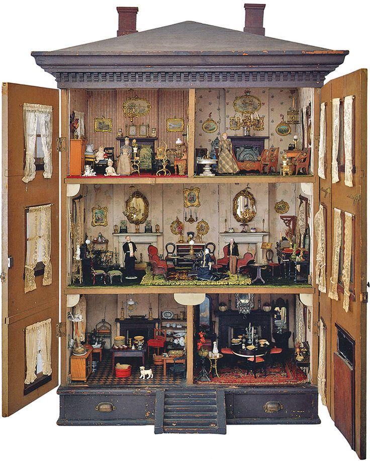 Flora Gill Jacobs Doll House - 373 Best Antique/Vintage Dolls Houses & Miniatures Images On