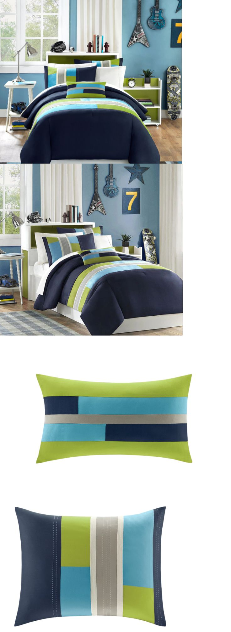 Dark Blue Bedding Sets - Bedding sets 66731 full size bedding sets queen teens comforter boys navy blue striped bedspread