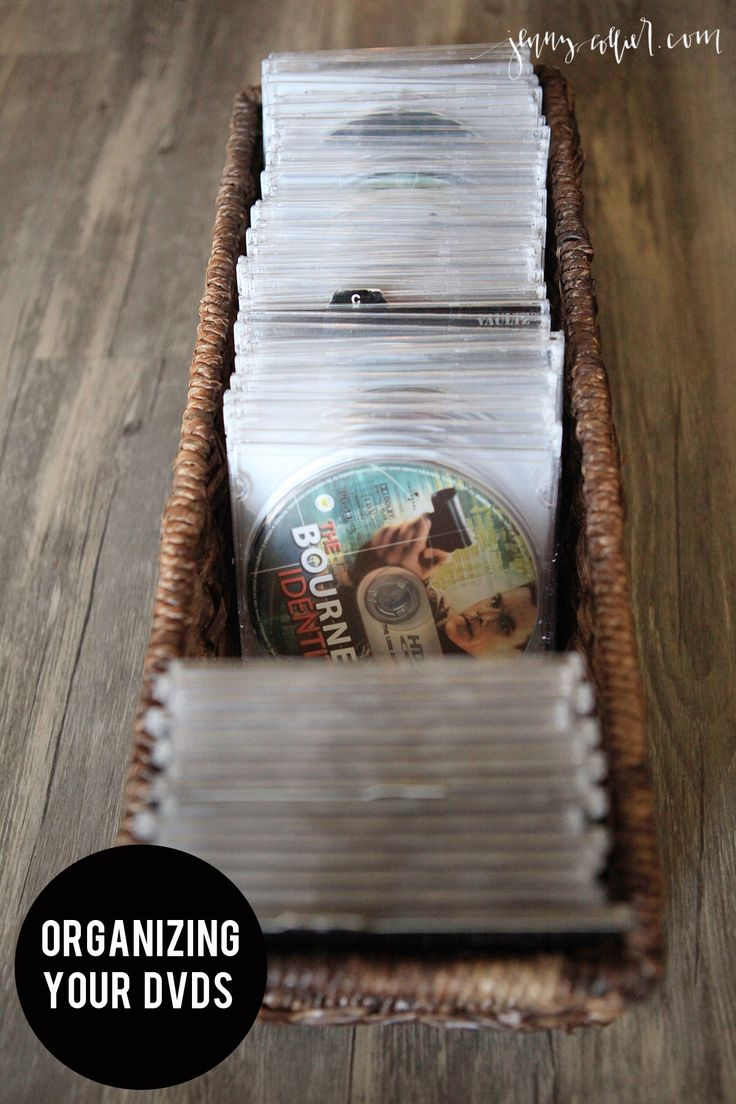 This DVD organization solution is a simple DIY organizing project that will help to give you more space while looking chic at the same time.