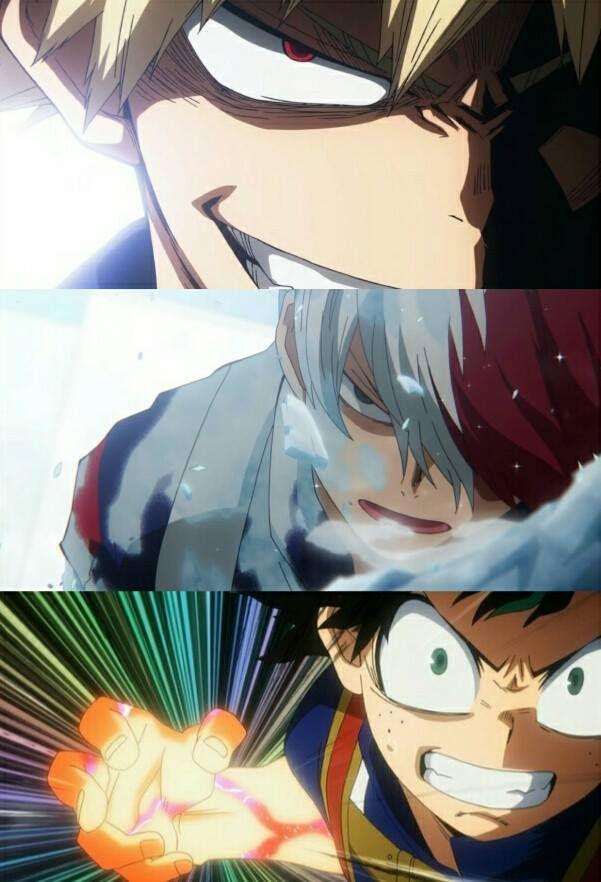 Boku no Hero Academia || Season 2 || Katsuki Bakugou, Todoroki Shouto, Midoriya Izuku, My hero academia #mha