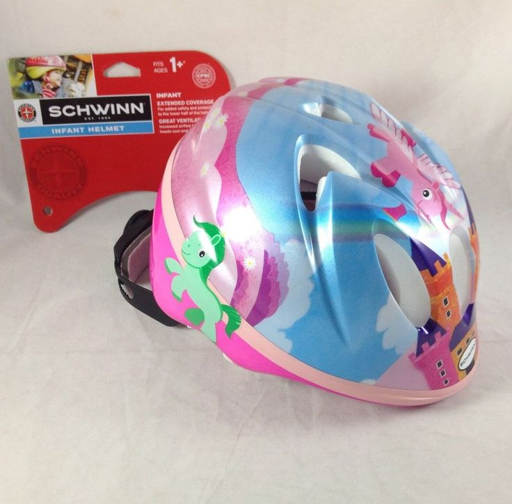Childrens Bike Helmet Infant 1+ Schwinn Bicycle Rainbow Pony Flying Unicorn Pink  | eBay