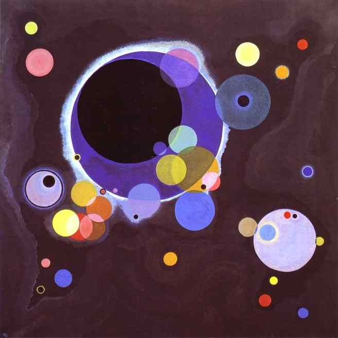 """Kandinsky-… lend your ears to music, open your eyes to painting, and … stop thinking! Just ask yourself whether the work has enabled you to """"walk about"""" into a hitherto unknown world. If the answer is yes, what more do you want?"""